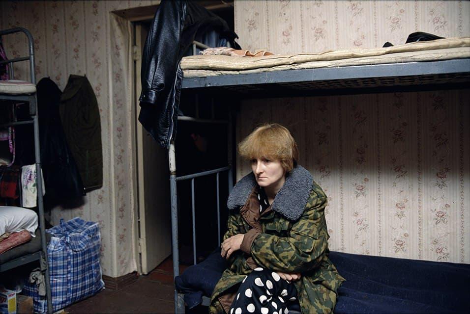 Лео Эркен. Мать российского солдата, захваченного в плен чеченскими боевиками. Грозный. 1997 г.